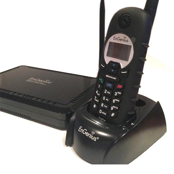 Engenius ep902 t l phone longue port e 2 lignes - Telephone fixe sans fil longue portee ...