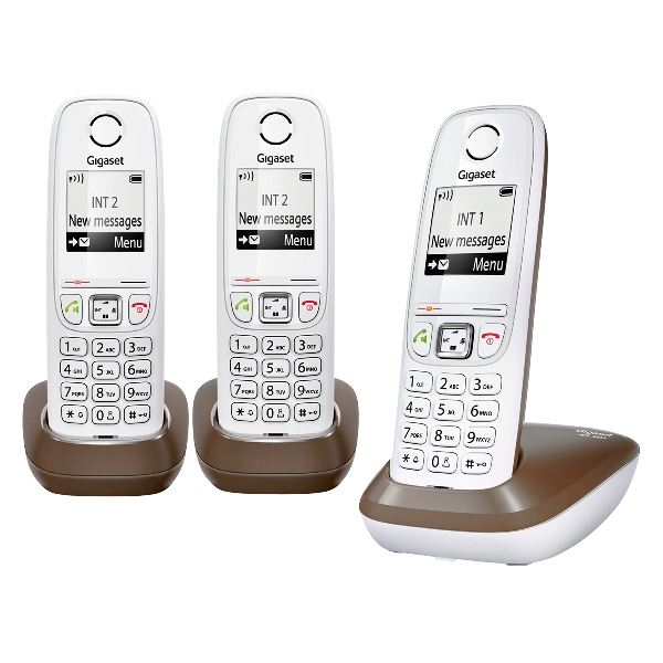 siemens gigaset as405 trio chocolat t l phone sans fil 3 combin s. Black Bedroom Furniture Sets. Home Design Ideas