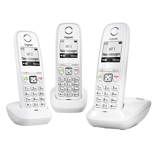siemens gigaset as405 trio blanc t l phone sans fil 3 combin s. Black Bedroom Furniture Sets. Home Design Ideas