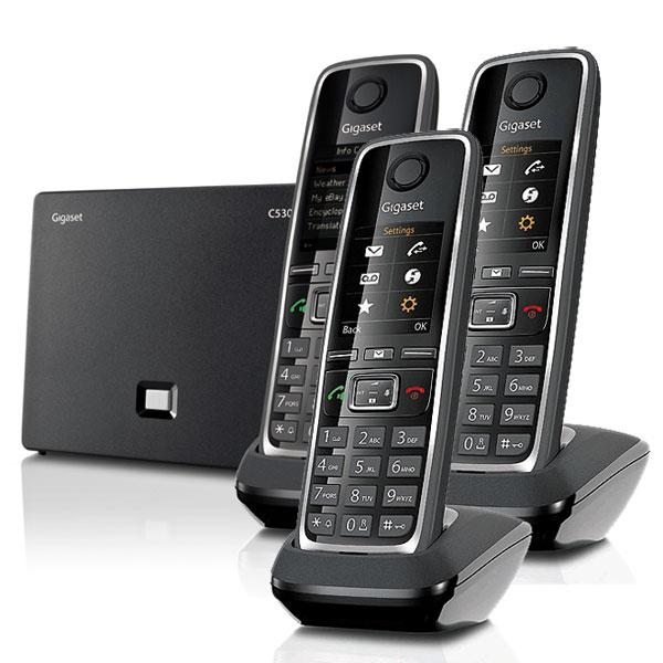 siemens gigaset c530 ip trio t l phone ip sans fil 3. Black Bedroom Furniture Sets. Home Design Ideas