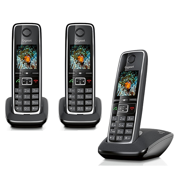 siemens gigaset c530 trio t l phone sans fil 3 combin s. Black Bedroom Furniture Sets. Home Design Ideas