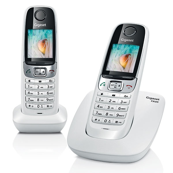 siemens gigaset c620 duo blanc t l phone sans fil 2 combin s. Black Bedroom Furniture Sets. Home Design Ideas