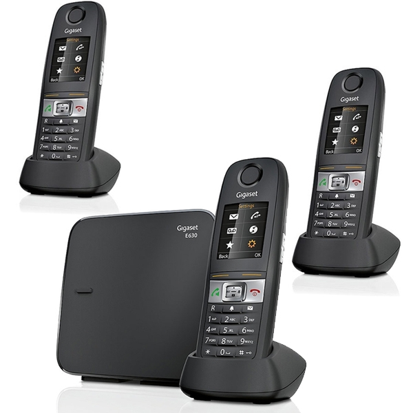 siemens gigaset e630 trio t l phone sans fil 3 combin s. Black Bedroom Furniture Sets. Home Design Ideas