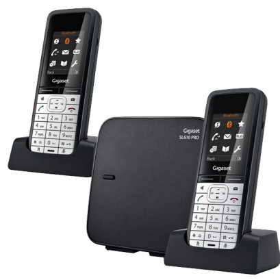 siemens gigaset sl610 pro duo t l phone sans fil 2 combin s. Black Bedroom Furniture Sets. Home Design Ideas