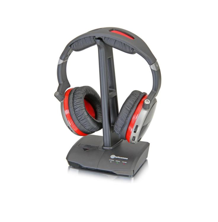 amplicomms hs 1300 casque audio sans fil. Black Bedroom Furniture Sets. Home Design Ideas