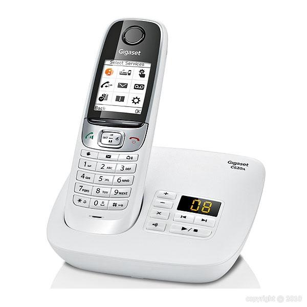 siemens gigaset c620a trio blanc t l phone sans fil r pondeur 3 combin s. Black Bedroom Furniture Sets. Home Design Ideas